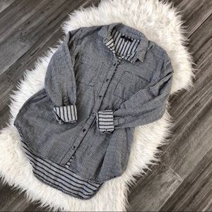 Madewell Oversized Checkered Button-Down